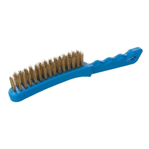 Silverline 763578 Heavy Duty 4 Row Brassed Steel Wire Brush 280mm